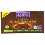 [Sunspire] Baking Chips, Sundrops & Fair Trade Bars Baking Bar, Sem/Swt, FT, 65% Cacao  At least 95% Organic
