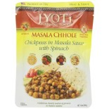 [Jyoti Indian Cuisine] Pouch Ready To Eat Entrees Masala Chhole, Chickpeas/Spinach