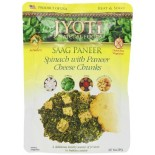 [Jyoti Indian Cuisine] Pouch Ready To Eat Entrees Saag Paneer, Spinach/Cheese Chnks