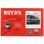 [Boyds Coffee] Single Cup Pods Red Wagon  At least 95% Organic
