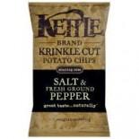 [Kettle Brand] Krinkle Cut Potato Chips Salt & Fresh Ground Pepper