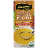 [Imagine Foods] Broths & Stocks, Low Sodium, Aseptic Chicken Broth, Free Range  At least 95% Organic