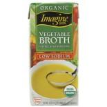 [Imagine Foods] Broths & Stocks, Low Sodium, Aseptic Vegetable Broth  At least 95% Organic