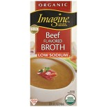 [Imagine Foods] Broths & Stocks, Low Sodium, Aseptic Beef Broth  At least 95% Organic