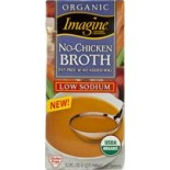 [Imagine Foods] Broths & Stocks, Low Sodium, Aseptic No-Chicken Broth LS  At least 95% Organic