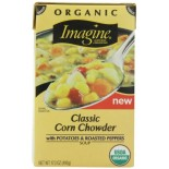 [Imagine Foods] Natural Garden Vegetable Soups, Aseptic Corn Chowder, Classic  At least 95% Organic