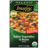 [Imagine Foods] Natural Garden Vegetable Soups, Aseptic Italian Vegetables & Beans  At least 95% Organic