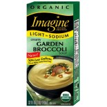 [Imagine Foods] Organic Soup, Light Sodium, Aseptic Creamy Garden Broccoli  At least 95% Organic