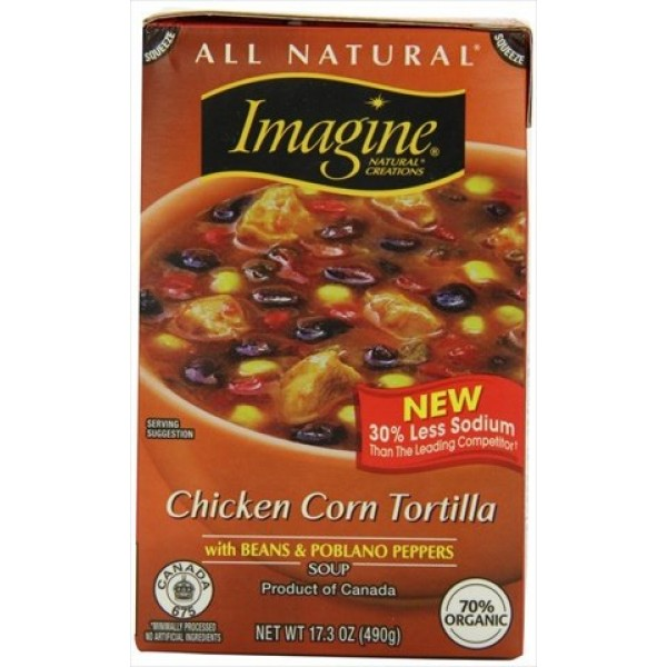 [Imagine Foods] Soups, Aseptic Chicken Corn Tortilla  At least 70% Organic