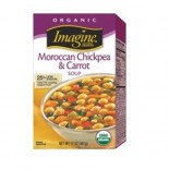 [Imagine Foods] Soups, Aseptic Moroccan Chickpea/Carrot, Chunky  At least 95% Organic
