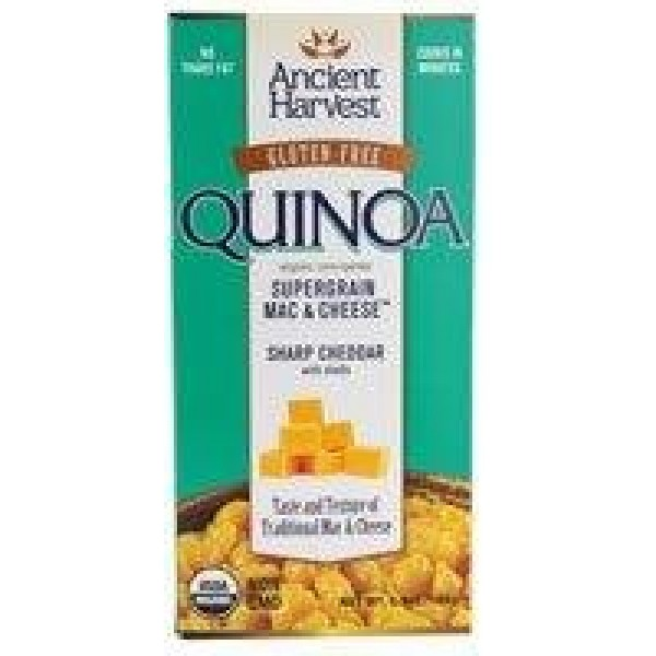 [Ancient Harvest] Quinoa Supergrain Mac & Cheese Sharp Cheddar W/Shells  At least 95% Organic