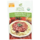 [Simply Organic] Seasoning Packs Italian Herb Spaghetti Sauce  At least 95% Organic