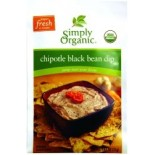 [Simply Organic] Dips Black Bean Dip  At least 95% Organic