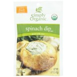 [Simply Organic] Dips Spinach Dip  At least 95% Organic