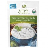[Simply Organic] Greek Yogurt Dip Mix Mediterranean Herb  At least 95% Organic