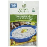 [Simply Organic] Greek Yogurt Dip Mix Zesty Spinach  At least 95% Organic