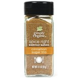 [Simply Organic] Spice Right Everyday Blends Cinnamon Sugar Trio  At least 95% Organic