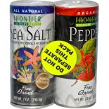 [Frontier Natural Products] Herbs & Spices Sea Salt & Pepper Combo