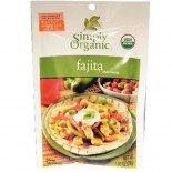 [Simply Organic] Seasoning Packs Fajita  At least 95% Organic