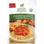 [Simply Organic] Seasoning Packs Spaghetti Sauce, Rstd Garlic  At least 95% Organic