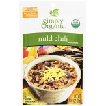 [Simply Organic] Seasoning Packs Chili, Mild  At least 95% Organic