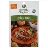 [Simply Organic] Seasoning Packs Taco, Spicy  At least 95% Organic