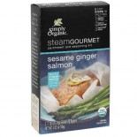 [Simply Organic] Steam Gourmet Parchment & Seasoning Kit Sesame Ginger Salmon  At least 95% Organic