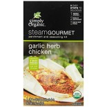 [Simply Organic] Steam Gourmet Parchment & Seasoning Kit Garlic Herb Chicken  At least 95% Organic