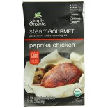 [Simply Organic] Steam Gourmet Parchment & Seasoning Kit Paprika Chicken  At least 95% Organic