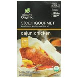 [Simply Organic] Steam Gourmet Parchment & Seasoning Kit Cajun Chicken  At least 95% Organic