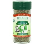 [Frontier Natural Products] Fair Trade Herbs & Spices Pepper, Black Medium Grind  At least 95% Organic