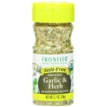 [Frontier Natural Products] Herbs, Spice Blends & Mixes Garlic & Herb, Salt Free  At least 95% Organic