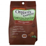 [Organix] Cough & Sore Throat Drops Chocolate Mint  At least 70% Organic