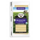 [Organic Valley] Cheese - Pasteurized Varieties; Rennetless Sliced Muenster  At least 95% Organic