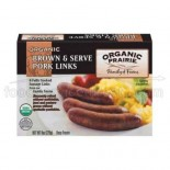 [Organic Prairie] Pork Sausage, Breakfast Links  At least 95% Organic