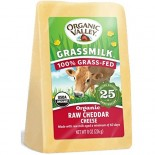[Organic Valley] Cheese - Unpasteurized Raw Milk Varieties Grassmilk, Cheddar Cheese  At least 95% Organic