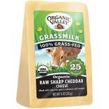 [Organic Valley] Cheese - Unpasteurized Raw Milk Varieties Grassmilk, Sharp Cheddar  At least 95% Organic