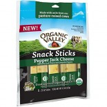 [Organic Valley] Cheese - Pasteurized Varieties Pepper Jack, Snack Sticks  At least 95% Organic