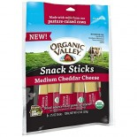 [Organic Valley] Cheese - Pasteurized Varieties Medium Cheddar, Snack Sticks  At least 95% Organic