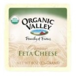 [Organic Valley] Cheese - Pasteurized Varieties; Rennetless Feta  At least 95% Organic