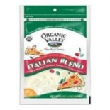 [Organic Valley] Cheese - Pasteurized Varieties; Rennetless Italian Blend, 4 Cheeses Shrd  At least 95% Organic