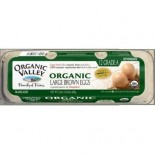 [Organic Valley] Eggs Brown, Large, Omega 3  100% Organic