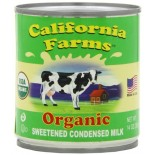 [California Farms]  Condensed, Sweetened  At least 95% Organic