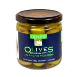 [Divina] Olives Stuffed, Green W/Jalapenos