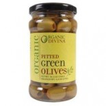 [Divina] Olives Pitted, Green  At least 95% Organic