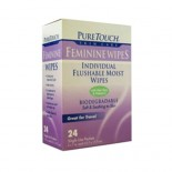 [Pure Touch Skin Care] Naturals - Flushable Moist Wipes Feminine