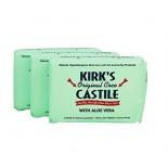 [Kirk`S] Castile Bar Soap Aloe Vera, 3pk