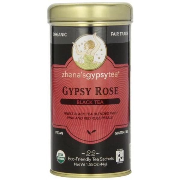 [Zhena`S Gypsy Tea] Tea Bags Gypsy Rose  At least 95% Organic