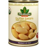 [Bioitalia] Canned Beans Butter Beans  At least 95% Organic