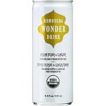 [Kombucha Wonder Drink] Canned Sparkling Fermented Tea Asian Pear Ginger  At least 95% Organic